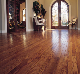 Cleaned hardwood floors